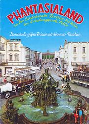 Cover vom Phantasialand Parkführer 1974 bis 1976 das den Neptunbrunnen und Alt-Berlin zeigt.