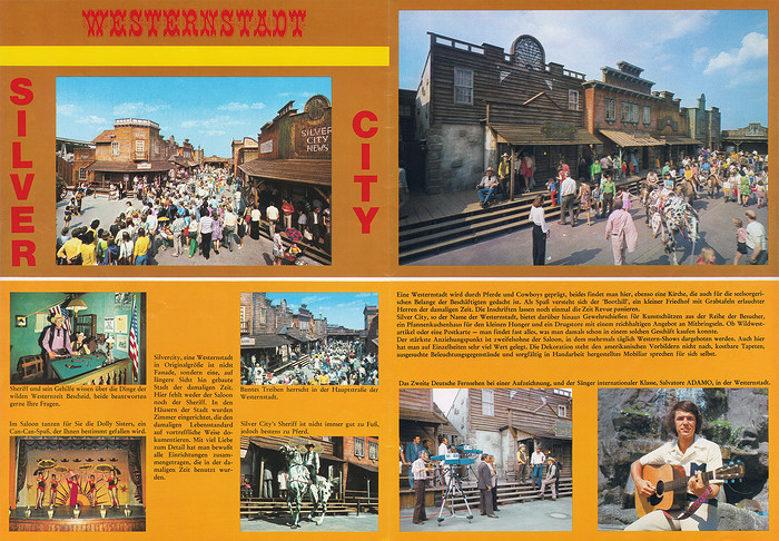 Parkführer 1974 bis 1976 - Seite 17 & 18. Viele Bilder der Westernstadt Silvercity.