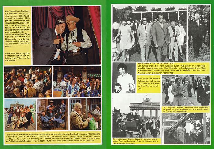 Bilder von Prominenz wie z.B. Mary Roos, Willy Millowitsch, Gerd Fröbe, Willy Brandt und der Gruppe Hello.