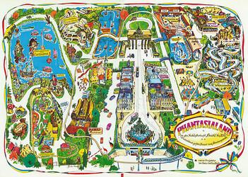 Phantasialand Parkplan 1977 bis 1980.