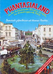 Cover vom Phantasialand Parkführer 1977 bis 1980 das den Neptunbrunnen und Alt-Berlin zeigt.