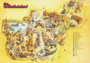 Phantasialand Parkplan 1981 & 1982.