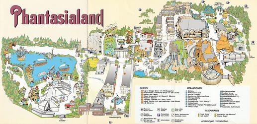 Phantasialand Parkplan 1996 bis 1998.