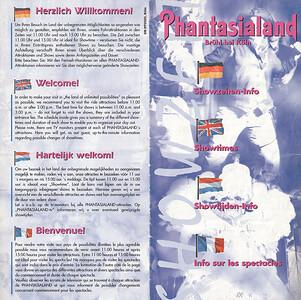 Frontcover der Phantasialand Showzeiten von 1998