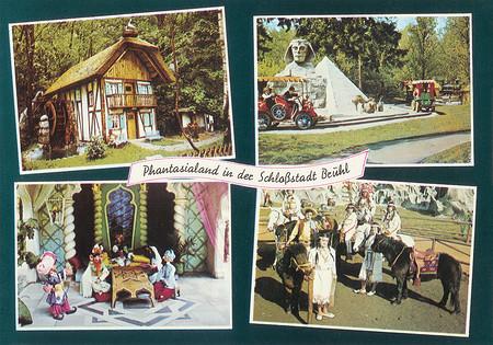 Zu sehen sind Indianer, Oldtimer-Fahrt vorbei an der Sphinx und Märchenwald.