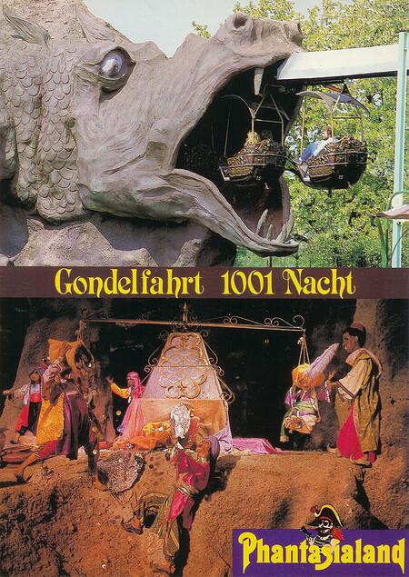 Das Drachenmaul und eine Szene aus der Gondelfahrt 1001 Nacht.