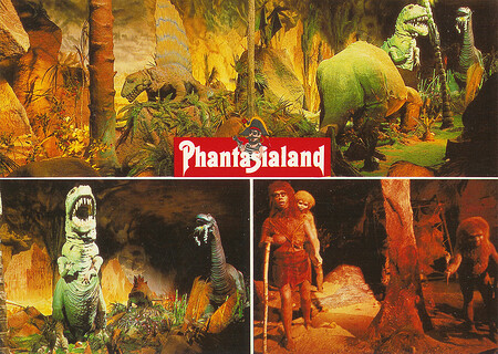 Dinosaurier und Neandertaler im Zeittunnel.