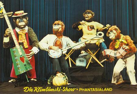 Die Klimbimski-Show. Europas erstes vollelektronisches Affentheater.