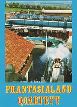 Deckblatt vom Phantasialand Quartett mit Wildwasserbahn und Jet.
