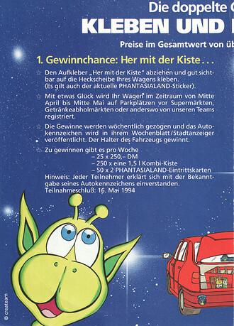 Alex from Galax und die ZEHNsationelle Kiste. Fanta, Cola, Sprite Gewinnspiel.