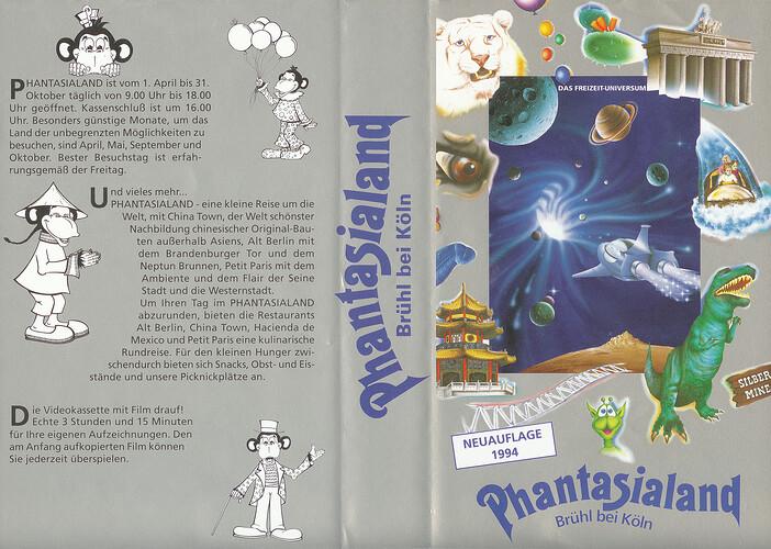 Cover der Phantasialand VHS-Kassette 1994.