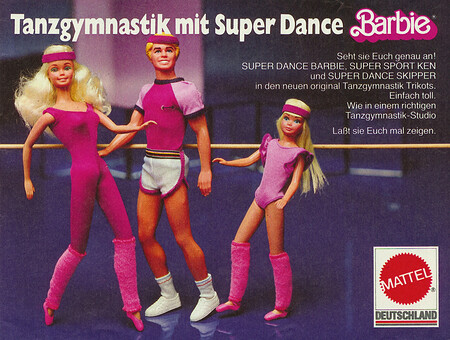 Super Dance Barbie, Sport Ken und Super Dance Skipper.