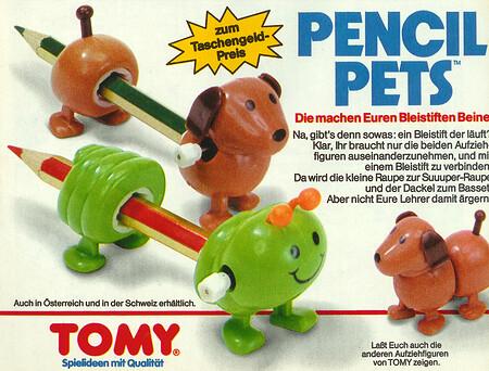 Tomy Pencil Pets Raupe und Dackel.